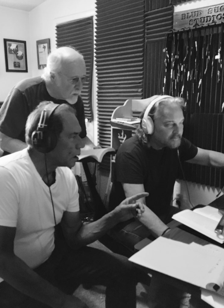Wes, Bobby, and John in the studio